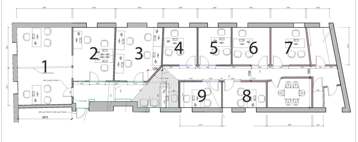 Floor plans of The Odeon Rooms, Eyre Square, Galway City